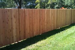 Solid board cedar w/ dogeared picket