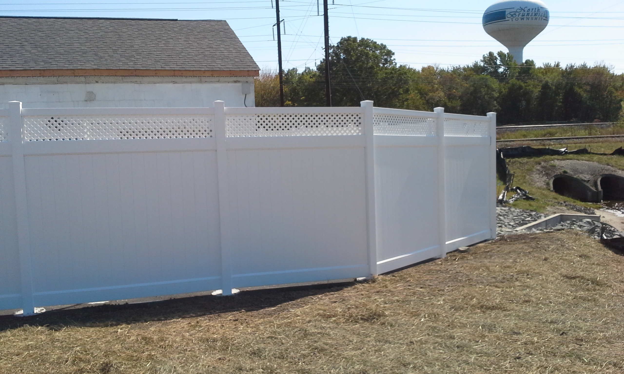 White Vinyl Lattice top