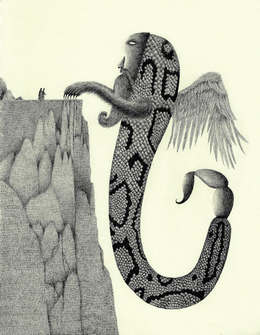 Dante and Virgil Meet Geryon