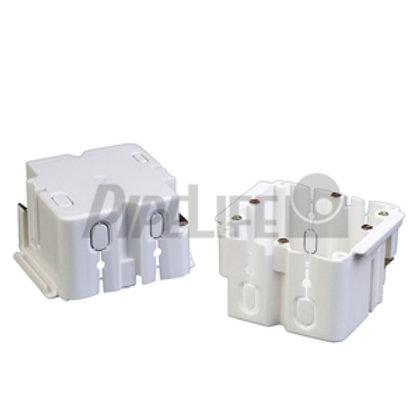 Geräteeinbaudosen für Brüstungskanäle, front, 1-fach