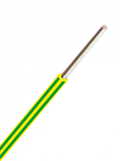 Aderleitung YE 1,5 gelb/grün