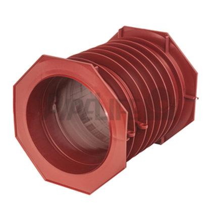 Lamellenrohr DN 100/300 mm mit Flansch