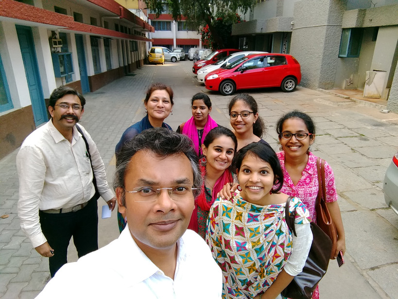 With HNI staff, PCR-Bengaluru