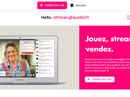 Créer votre propre livestream sur Quidol.fr