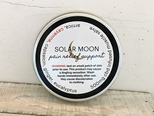 Solar Moon, CBD & Cayenne Infused Muscle Salve