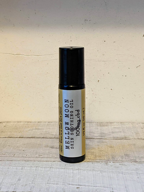 Mellow Moon Skin Soothing Oil, 100mg CBD Infused Roll-On