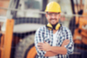 Young businessman construction site engi