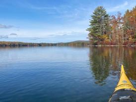 Fall Kayaking Bass Cove