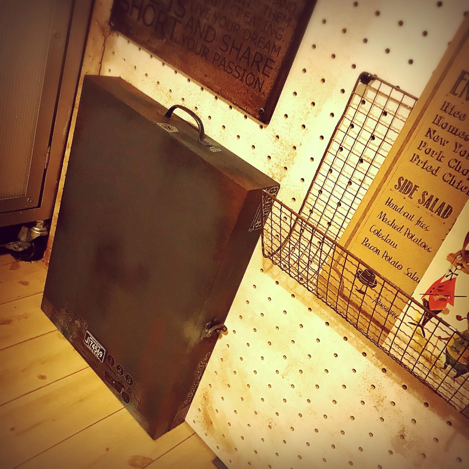 タオルギフトの木箱リメイク