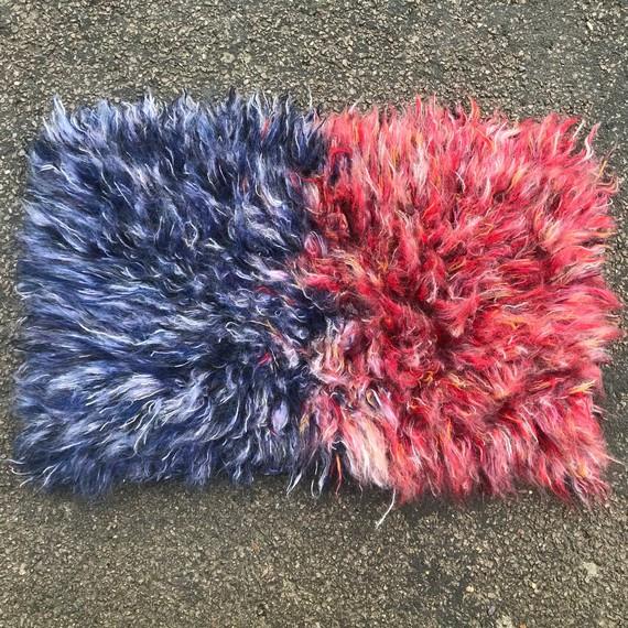 Red / Blue Latch Rug