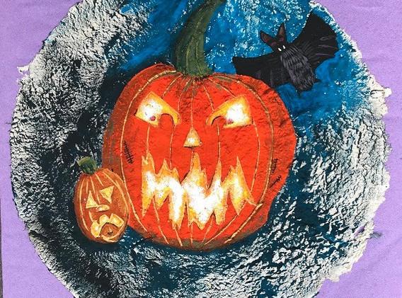 Pumpkins & Bat