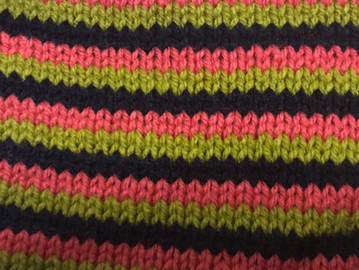 Block 5 - Colourful Stripes - The Art of Knitting