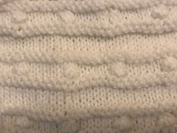 Block 6 - Ridged Stripes with Bobbles - The Art of Knitting