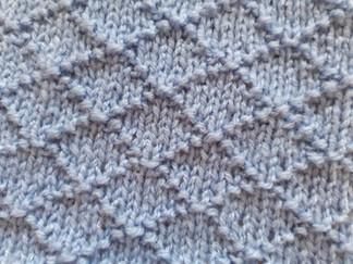 Block 9 - Diamond Seed Stitch - The Art of Knitting