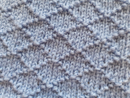Block 9 - Diamond Seed Stitch - The Art of Knitting