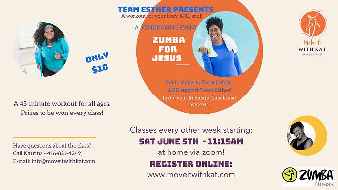 NEW Facebook Team Esther Zumba Fundraise