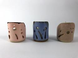 Porta Velas de Cerâmica