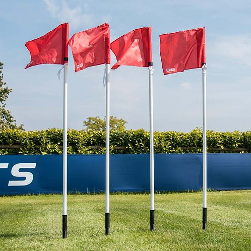 FOOTBALL 25MM CORNER FLAGS (SPRING LOADED)
