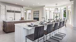 Welcoming kitchen, staged by Luxe.