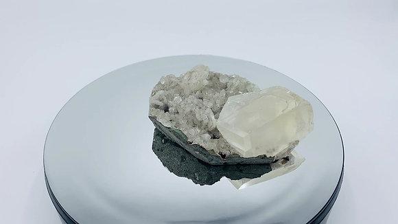 Calcite  Quartz Cluster 160 g