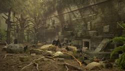Orientarium - wizualizacja wybiegu makaków czubatych