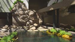 Orientarium - wizualizacja basenu gawiali