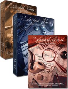 Les 3 versions du jeu Sherlock Holmes Détective