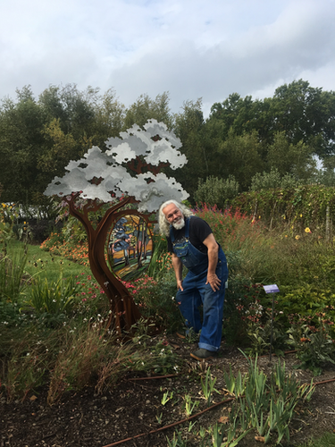 Hillside of Trees - With glass artist Ch