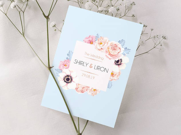 הזמנה לחתונה דגם 020