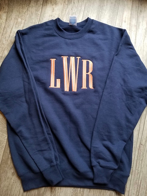 Large Monogram Crewneck