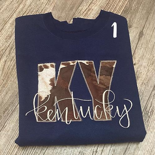 Ky Kentucky cow print