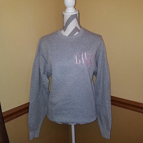 monogramed crewneck sweatshirt
