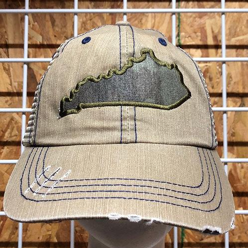 Camo Kentucky State Trucker Hat