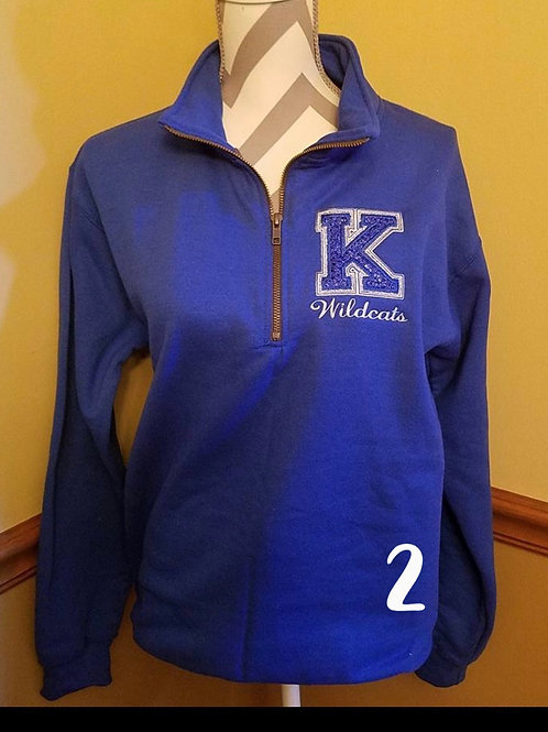 Sparkle K 1/4 zip (plus sizes)