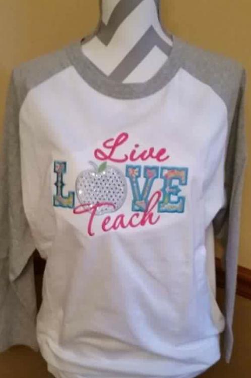 Live Love Teach Baseball T