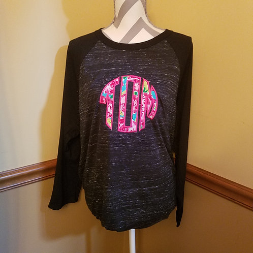 Monogramed Baseball tee with initials