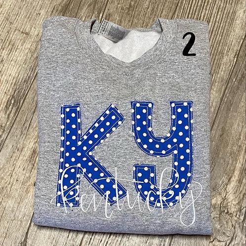 Ky Kentucky Crewneck (plus Sizes)