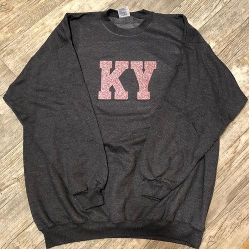 "Pink Sparkle ""KY"" Crewneck"