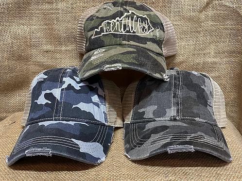 Camo Kentucky (ponytail hat )