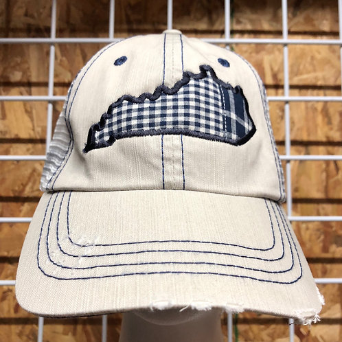 Plaid Kentucky State Trucker Hat