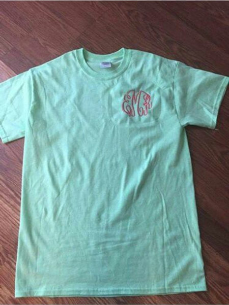 Monogrammed t shirt (plus size)