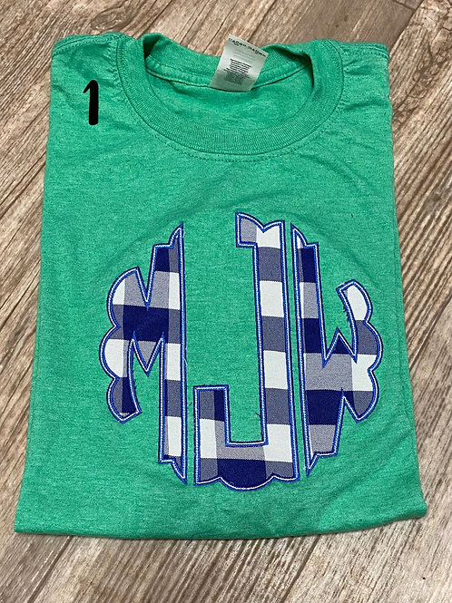 Scallop Circle Monogram Tee (plus Sizes)
