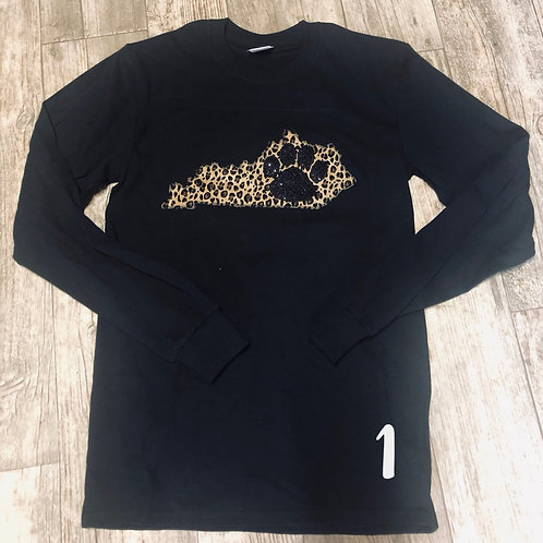 Ky Paw Long Sleeve Tee (Plus Sizes)