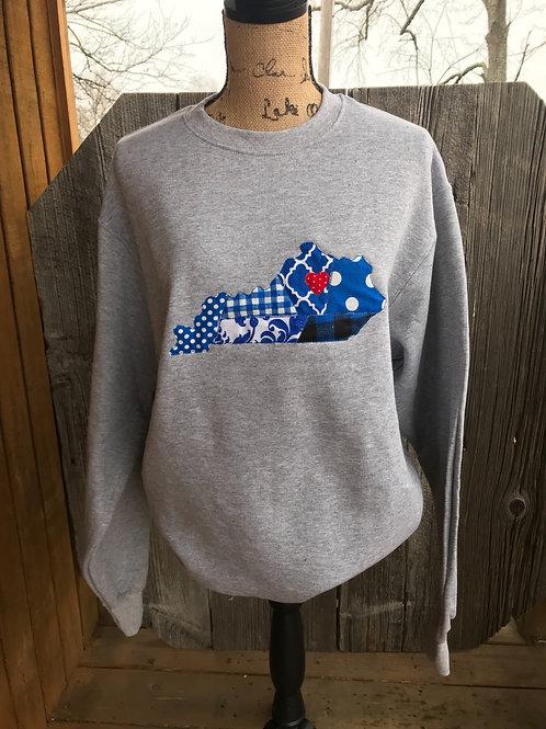 Patchwork Ky Crewneck Sweatshirt