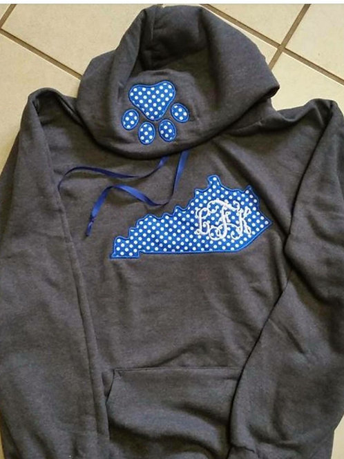 Kentucky with initials