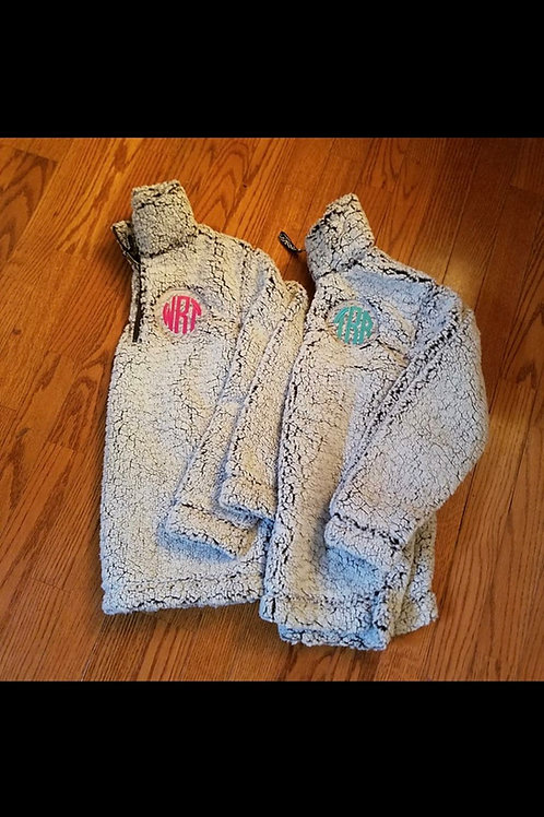 Monogramed Sherpa (plus sizes)