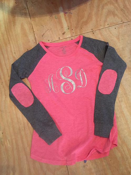 Preppy Patch Long Sleeve T shirt