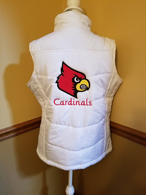 Cardinal puffy vest
