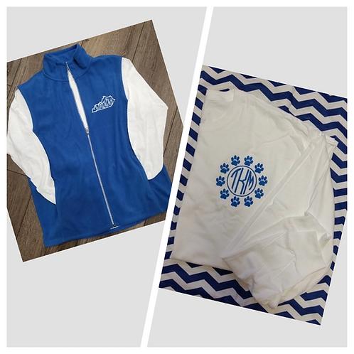 Tuesday Special (fleece vest & long sleeve tee )