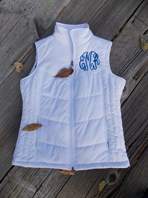Monogramed Puffy Vest
